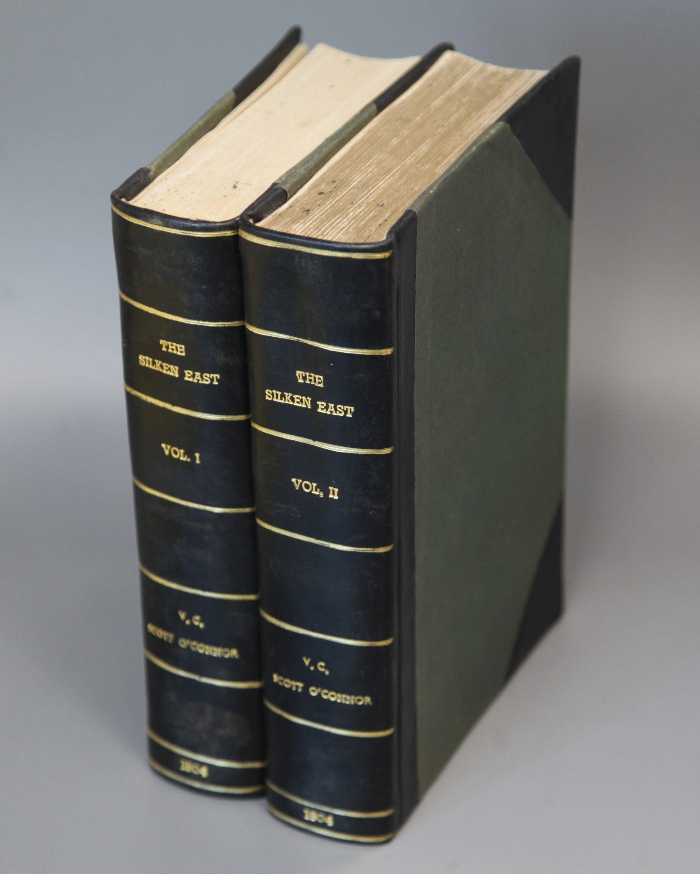 Lot 27 - O'Connor, Vincent Clarence Scott - The Silken East, 2 vols, rebound half calf, quarto, front inner