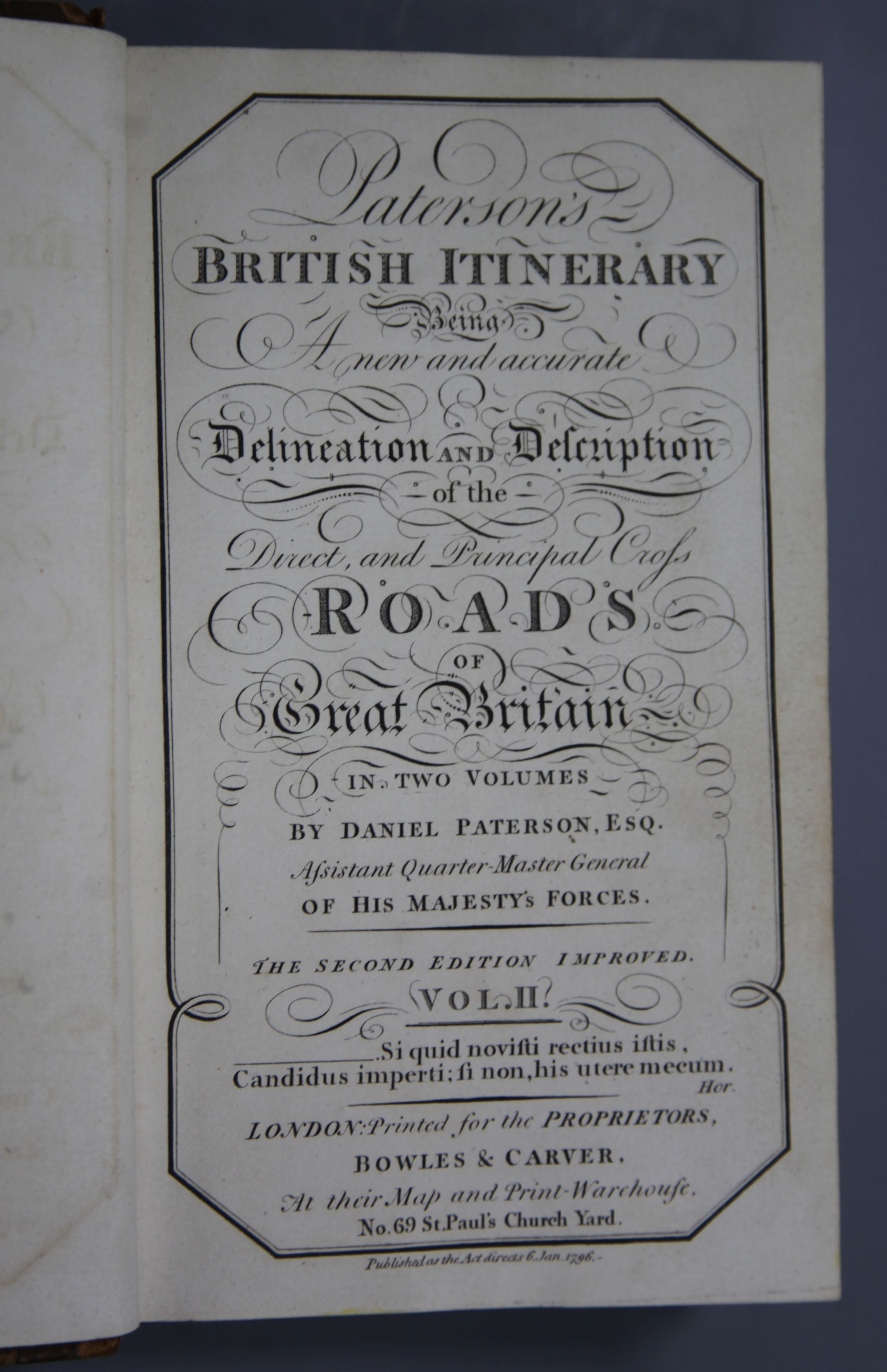 Lot 24 - Paterson, Daniel - British Itinerary, being a New and Accurate Delineation ..., vol 2 only, 2nd