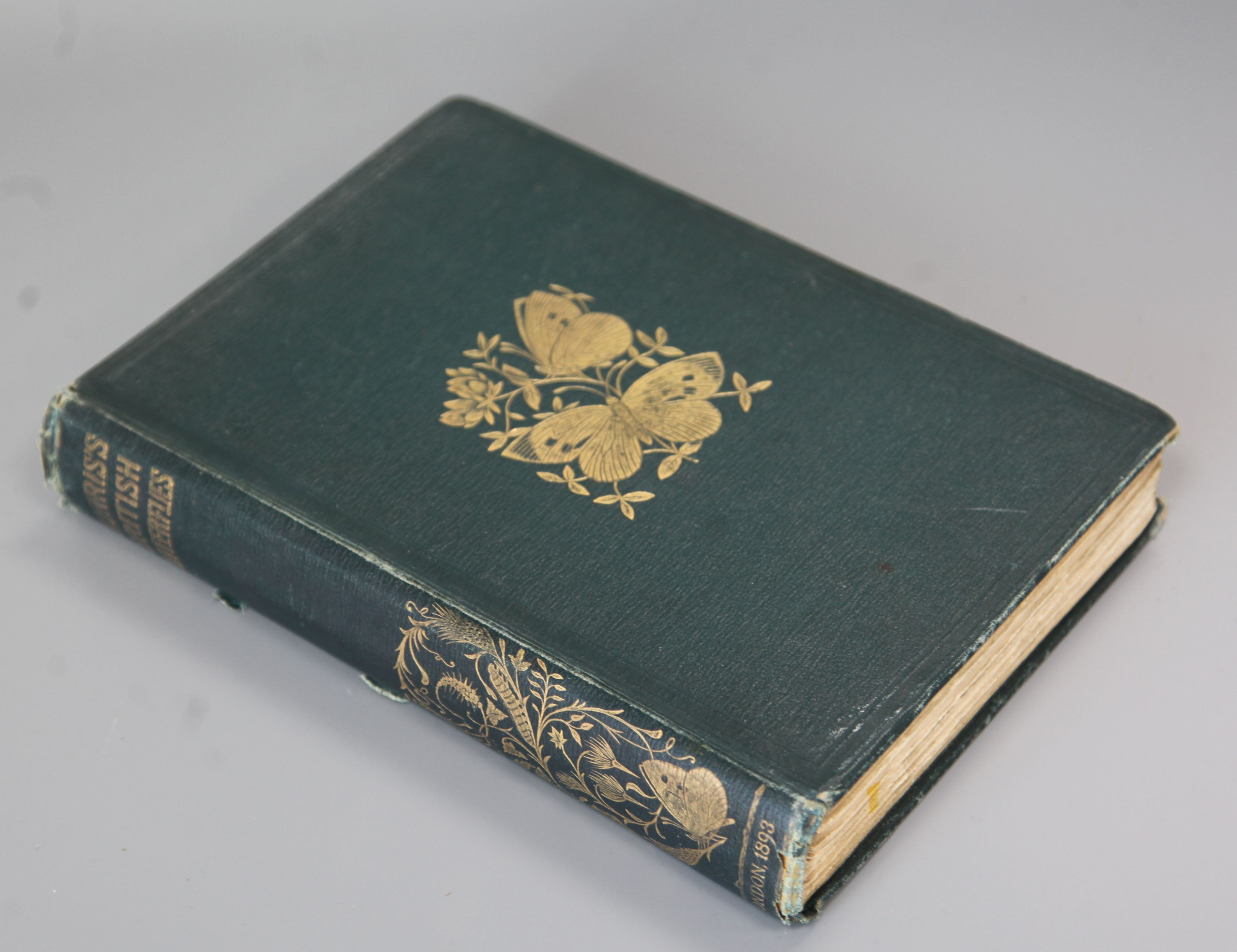 Lot 12 - Morris, Rev Francis Orpen - A History of British Butterflies, 7th edition, 8vo, cloth, front fly
