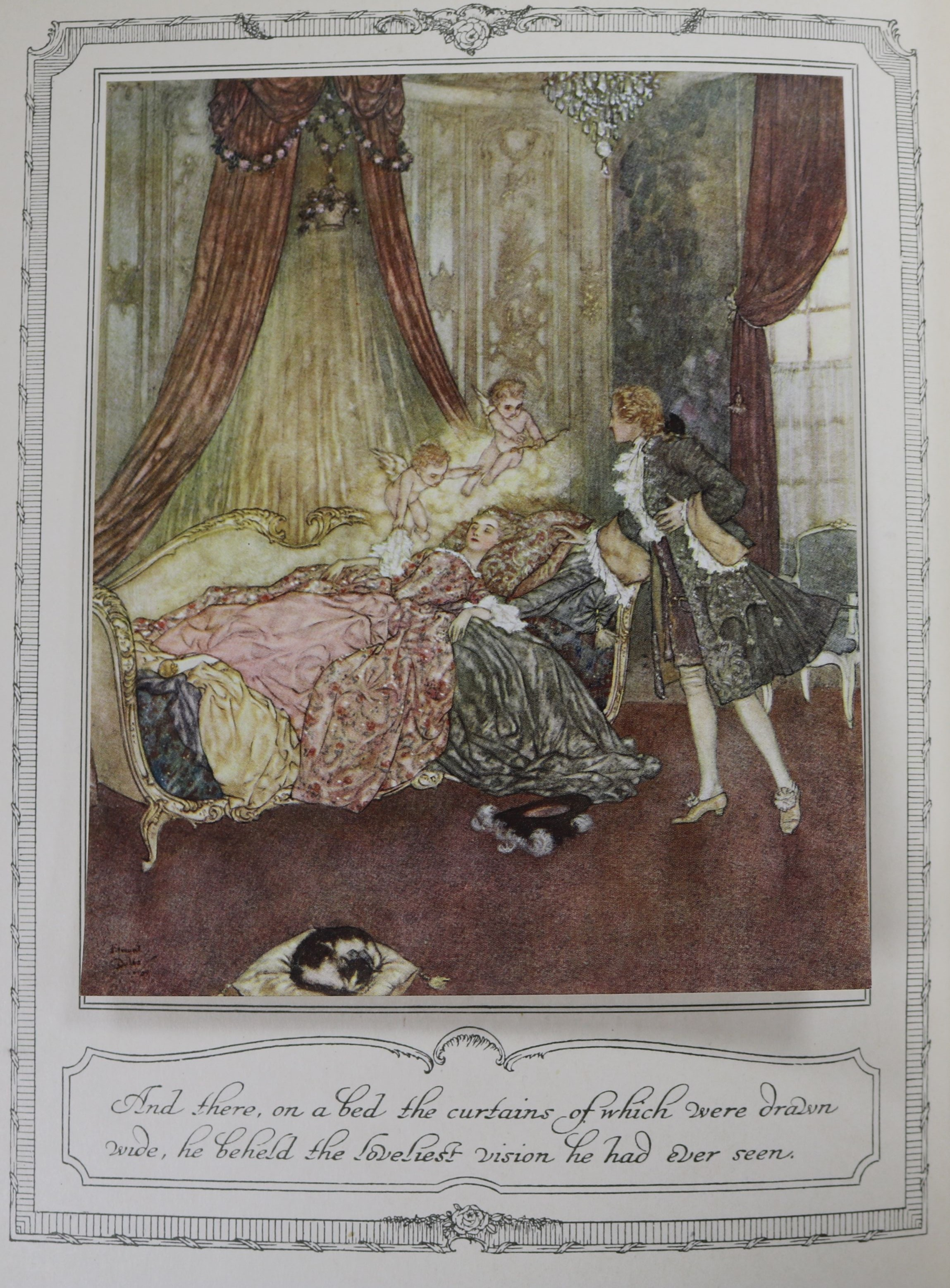 Lot 28 - Dulac (Edmund - illustrator), The Sleeping Beauty and Other Fairy Tales, Hodder & Stoughton, 1910,