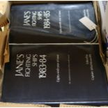 Lot 3 - Six Janes Fighting ships books by Captain John Moore 1976 - 1974