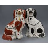 Lot 39 - Two Staffordshire dogs height 26.5cm