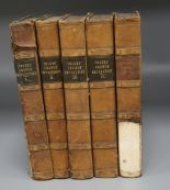 Lot 23 - Thiers, Louis Adolphe - The History of the French Revolution, 5 vols, half calf, 8vo, scuffed,