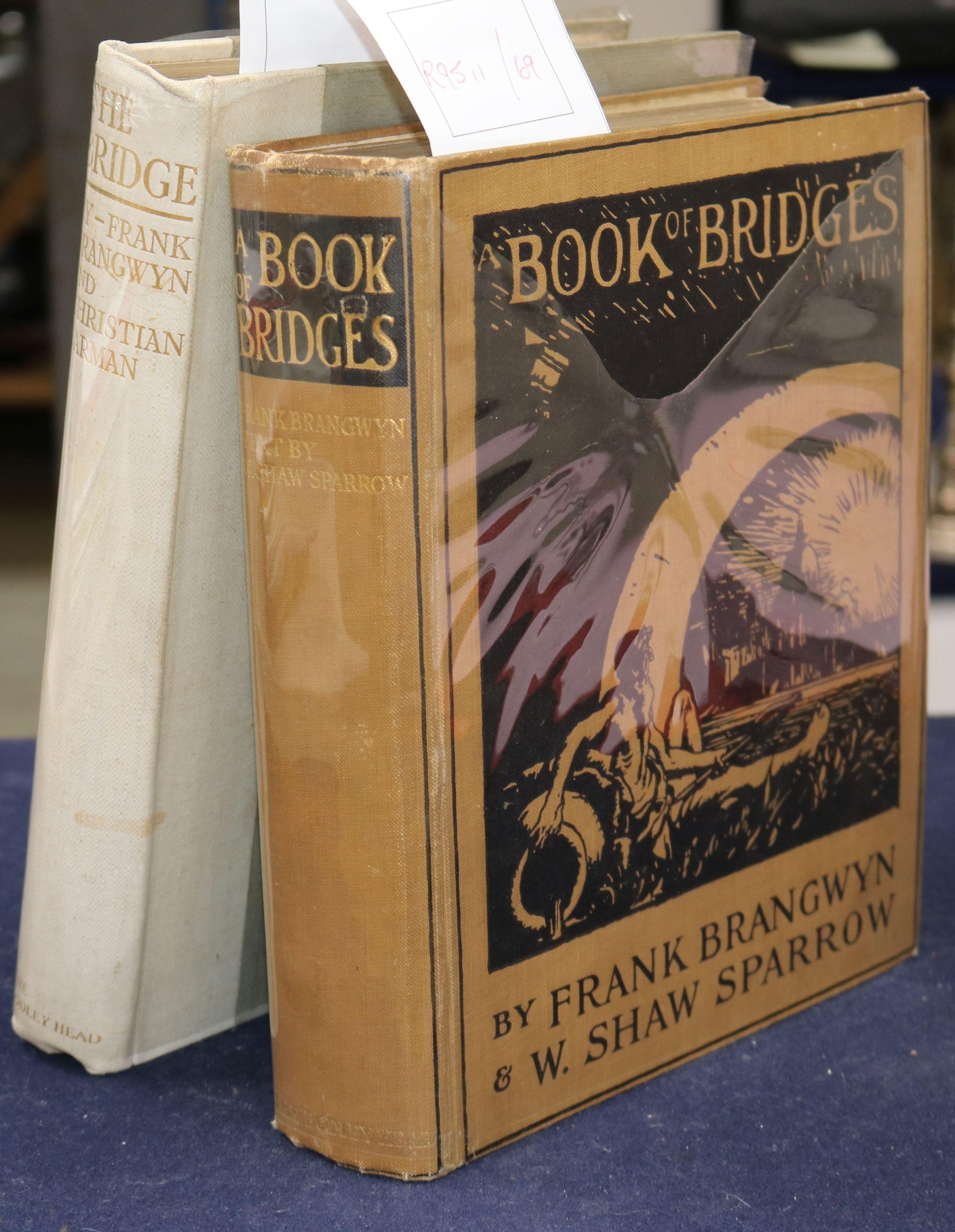 Lot 4 - Barman, Christian - The Bridge ... , one of 125, illustrated by Frank Brangwyn, 4to, original half