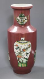 Lot 202 - A Chinese puce ground vase height 42cm