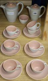 Lot 125 - A Poole Pottery teaset