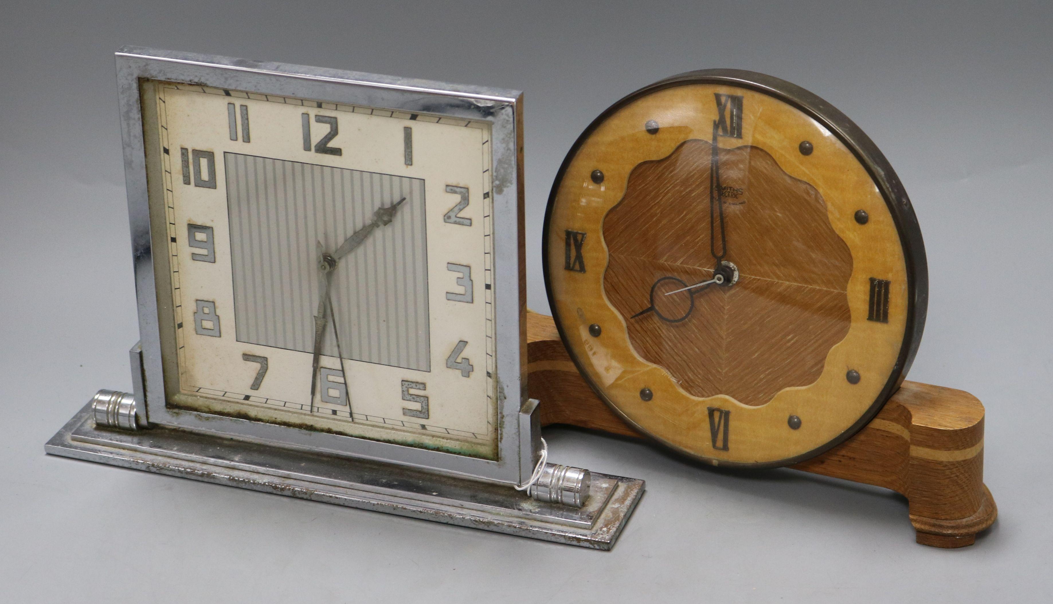 Lot 169 - Two Art Deco clocks