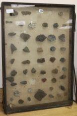 Lot 180 - A glazed case of mineral samples