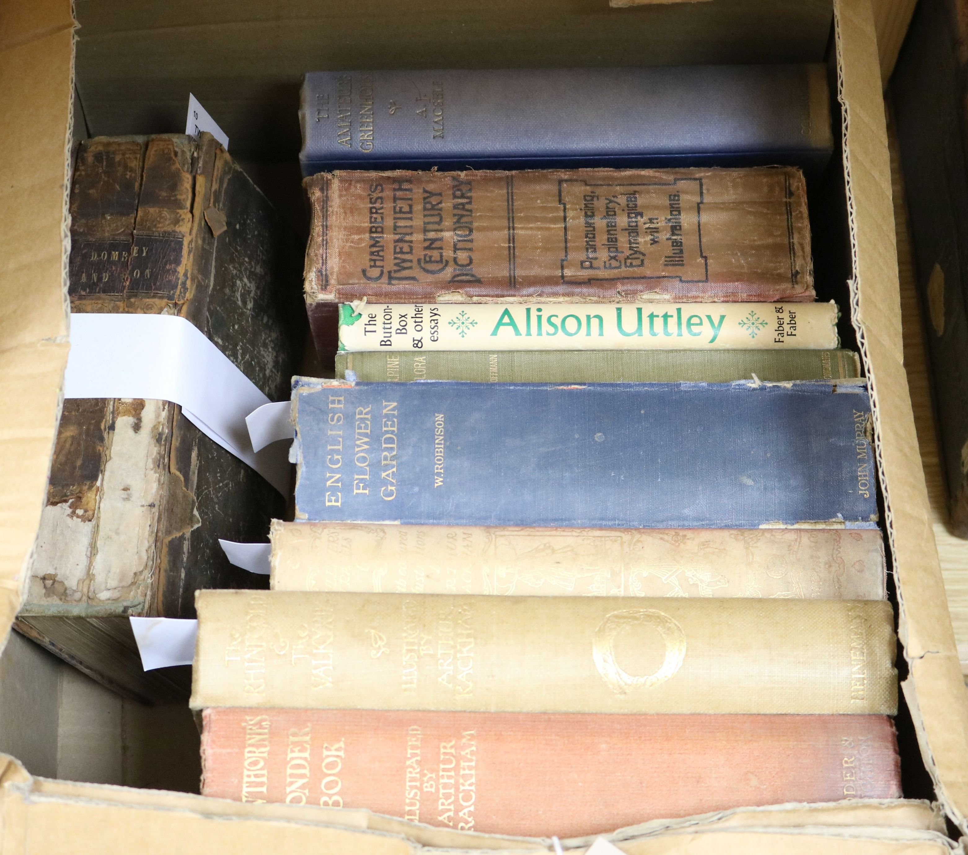 Lot 37 - A small collection of books, including The Rhinegold & The Valkyrie illustrated by Arthur Rackham,