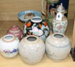 Lot 66 - A mixed group of Chinese and European ceramics, 19th/20th century tallest 30cm