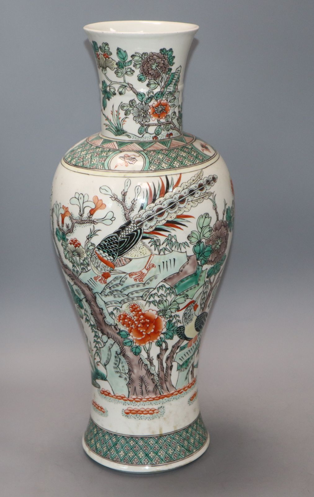 Lot 26 - A Samson of Paris famille verte vase c.1900 height 46cm