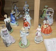 A collection of Royal Worcester Victorian figures (13)