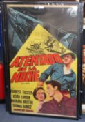 "An original one sheet film poster ""Atendado En La Noche"" - ""Night Freight"""