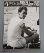 A rare unpublished photograph of Sidney Charles Rand (1934-2008), sculler of the Leander Rowing