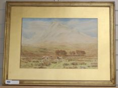 Herbert Moxon Cook (1844-1920), watercolour, Ben Nevis, from near Arrivain, Argyllshire, signed