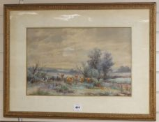 Thomas Rowden (1842-1926), pair of watercolours, Pastoral scenes with cottages and cattle, signed,