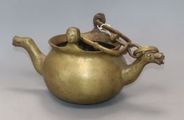 A 19th century brass vessel