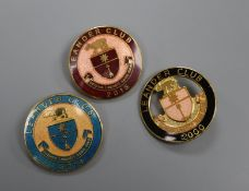 Twenty six Leander Rowing Club enamelled badges, 1990's-2000's