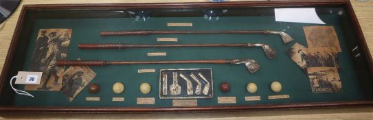 'The History of Golf' display case