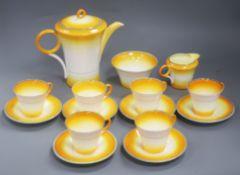 A Shelley fifteen piece coffee set