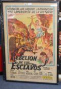 """An original one sheet film poster """"La Rebellion de Lus Esclavos"""" - The Revolt of the Slaves"""