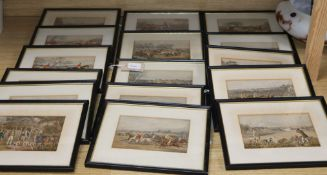 A collection of 19th century coloured hunting, racing and sporting prints (16, framed)