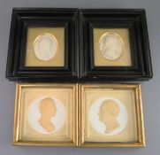 A pair of early Victorian plaster relief portrait plaques of Keates and Morot, retailed by