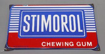 A Stimorol enamel chewing gum sign 20 x 36.5cm
