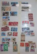 A number of stamp albums
