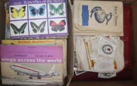 A collection of cigarette cards