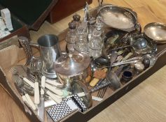 Assorted plated ware