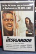 "An original one sheet film poster ""El Resplantsor"" - ""The Shining"""