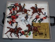 A quantity of W. Britain's cold painted toy soldiers