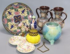 A group of mixed European ceramics