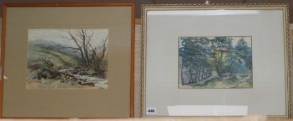 Walter G. Ramsey, two watercolours, Hampstead and another view of Ullswater, largest 21 x 28cm