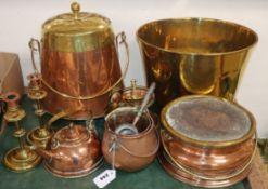 A quantity of 19th century Dutch metalware