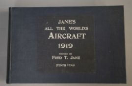 Jane's - Jane's All the World's Aircraft, oblong qto, cloth, London 1919