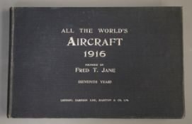 Jane's - Jane's All the World's Aircraft, oblong qto, cloth, London 1916