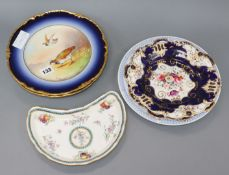 A group of French porcelain dessert dishes and plates etc