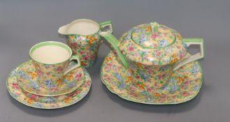 A quantity of Chintz teaware