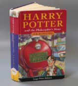 Rowling, J.K. - Harry Potter and the Philosopher's Stone, 1st edition in large print, ex. Library,