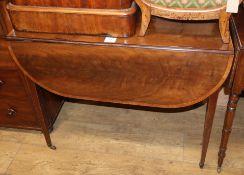 A George III inlaid mahogany Pembroke table W.84cm