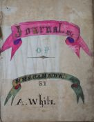 The late 19th century Ship's Journal of Able Seaman A. White, aboard H.M.S. Canada, a 2380 ton