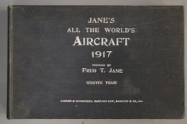 Jane's - Jane's All the World's Aircraft, oblong qto, cloth, London 1917