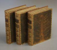Shakespeare, William - The Works, the Victoria edition, 3vols, 8vo, tree calf gilt, MacMillan,