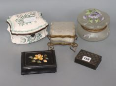 A pietra dura box and four others