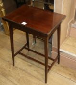 An Edwardian mahogany swivel and fold over games table, circa 1910 W.51cm