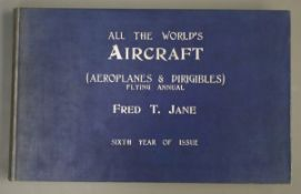 Jane's - Jane's All the World's Aircraft, oblong qto, cloth, London 1914