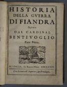Bentivoglio, Guido - Historia della guerra di Fiandra descritta dal Cardinal Bentivoglio, 3 vols