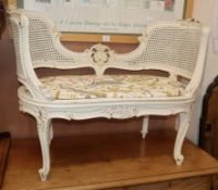 A painted bergere window seat W.97cm